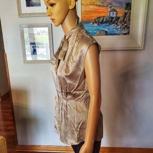 Cynthia Steffe Tops - Cynthia Steffe 100% Silk tie-neck button blouse